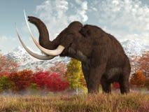 Mammut in autunno royalty illustrazione gratis