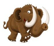 Mammut felice del fumetto - isolato - illustrazione per i bambini Fotografia Stock Libera da Diritti