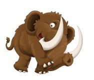 Mammut felice del fumetto - isolato - illustrazione per i bambini Fotografie Stock Libere da Diritti