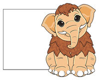 Mammut mit sauberem Gegenstand lizenzfreie abbildung