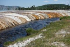 Mammutheiße quelle bei Yellowstone Lizenzfreie Stockfotografie