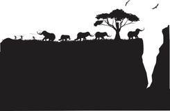 Mammutjagdszene Stockbilder