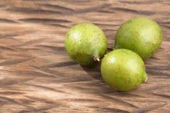 Mamoncillo delicious tropical fruit - Melicoccus bijugatus. Fresh ripe peeled quenepa fruit - Melicoccus bijugatus Royalty Free Stock Image
