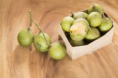 Mamoncillo delicious tropical fruit - Melicoccus bijugatus. Fruit that provides interesting nutritional properties in a balanced and healthy diet Stock Image