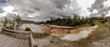 Mamoth gorących wiosen panorama obrazy stock