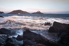 Mamrocze latarnię morską Gower Fotografia Royalty Free