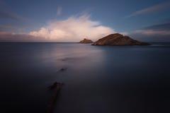 Mamrocze latarnię morską Swansea Fotografia Stock