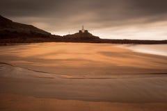 Mamrocze latarnię morską Swansea Zdjęcia Stock