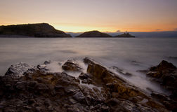 Mamrocze latarnię morską Walia Fotografia Stock