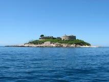 Mamula island. Mamula (Lastavica) island in Montenegro stock image