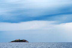 Mamula Islet. Mamula (or Lastavica) is an islet in the Adriatic Sea, in southwestern Montenegrin municipality of Herceg Novi Stock Photography
