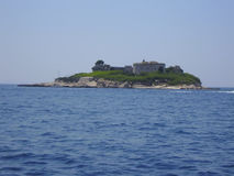 Mamuls island. View from the sea of Mamuls fort in the Boko-Kotosky gulf Stock Image