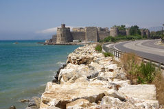 Mamure fortress in Turkey Stock Images