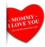 Mamusie kocham ciebie Fotografia Royalty Free