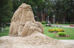 Mamut hecho de la arena Foto de archivo libre de regalías
