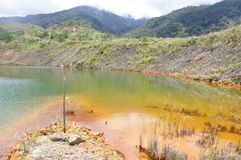 Mamut kopalnia miedzi, Sabah, Malezja Zdjęcia Royalty Free