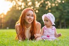 mamy harfiarzów córka promie park west Virginia usa Zdjęcia Stock