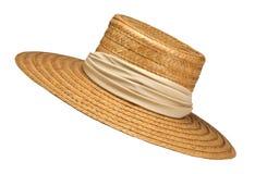 mamy kapelusz jest słoma Obrazy Stock