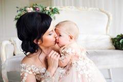 mamy małą córkę Fotografia Royalty Free
