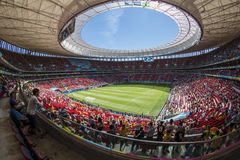 Mané Garrincha stadion - BrasÃlia/DF - Brasilien arkivfoto