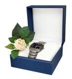 Man�s watch with titanium bracelet Stock Photo