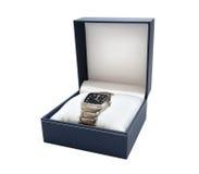 Man�s watch with titanium bracelet Stock Images