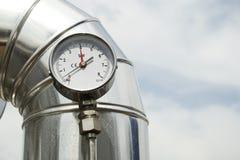 Manómetro de la presión de gas Imagen de archivo libre de regalías