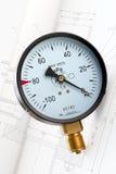 Manómetro industrial Imagenes de archivo