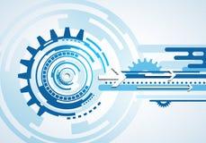 Manöverenhet för handlag för affärsteknologi futuristisk blå infographic Arkivfoto