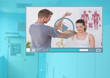 Manöverenhet för medicinsk doktor Video Player App Arkivbild