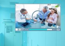 Manöverenhet för medicinsk doktor Video Player App Arkivfoto