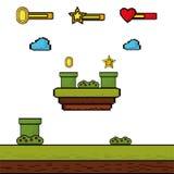 Manöverenhet för nivå för videospelmyntstjärna Royaltyfri Fotografi