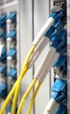 Manöverenhet för optiskt kontaktdon för fiber för telekommunikationer för kortutrustning DWDM Arkivbild