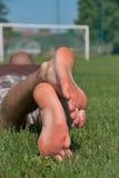Man�s foot Stock Image