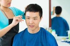 Man�s hair salon Stock Photography