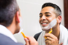 Man�s shaving Stock Image