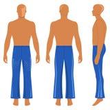 Man& x27; силуэт s в брюках пирофакела Стоковое Изображение