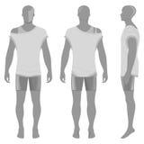 Man& x27; силуэт s в одеждах летнего времени Стоковые Фото