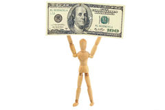 Man with 100 dollar bill Royalty Free Stock Photography