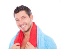 Man. Smiling beauty good looking spa man Royalty Free Stock Images