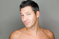 Man. Beatuy male hair portrait of young man Stock Images