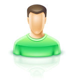Man. Vector illustration of man on white background Royalty Free Stock Image