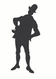 Man. A illustration of a man's silhouette vector illustration