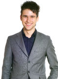 Man. Portrait of young business man, isolated on a white background royalty free stock photos