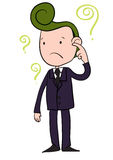 Man aback. A Vector Illustration of a Confused Business Man Cartoon Character Royalty Free Stock Photos