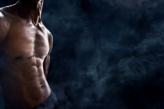 Man abdominal muscles Stock Image