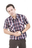 Man with abdominal pains Royalty Free Stock Photography