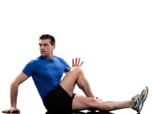 Man on Abdominals rotation Stock Photos