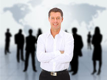 Man and abstract team Royalty Free Stock Images