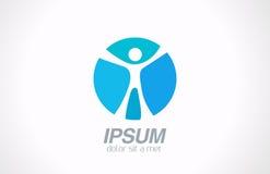 Logo man abstract. Sport, fitness, media, health i Royalty Free Stock Images